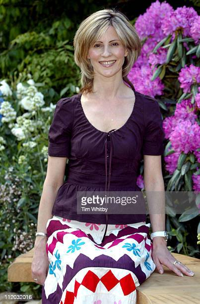 Julia Carling during Chelsea Flower Show 2005 at Royal Hospital Chelsea in London Great Britain