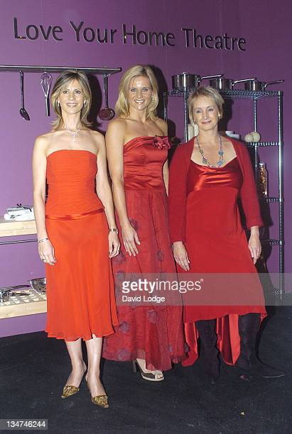 Julia Carling Lesley Walters and Linda Barker during The Autumn Ideal Home Show Launch 2004 at Earls Court in London Great Britain