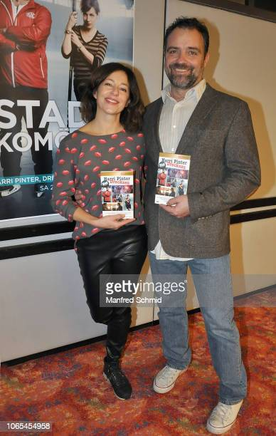 Julia Cencig and Juergen Maurer pose during the 'Landkrimi Stadkomoedien' photo call at ORF Zentrum on November 26 2018 in Vienna Austria