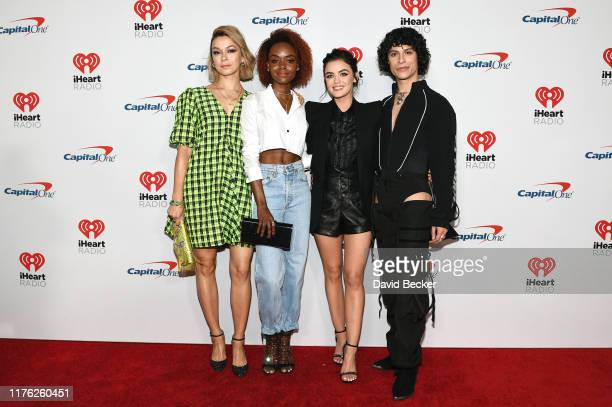 Julia Chan Ashleigh Murray Lucy Hale and Jonny Beauchamp attend the 2019 iHeartRadio Music Festival at TMobile Arena on September 21 2019 in Las...