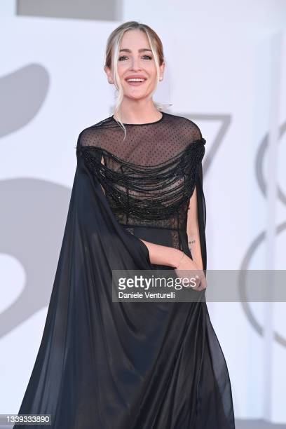 """Julia Charlotte De Rossi attends the red carpet of the movie """"America Latina"""" during the 78th Venice International Film Festival on September 09,..."""