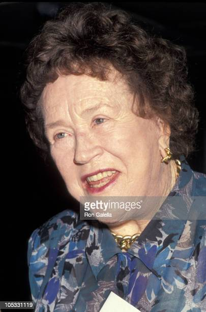 Julia Child during City Meals on Wheels Hosts Its 4th Annual Women's Power Lunch at The Rainbow Room in New York City New York United States