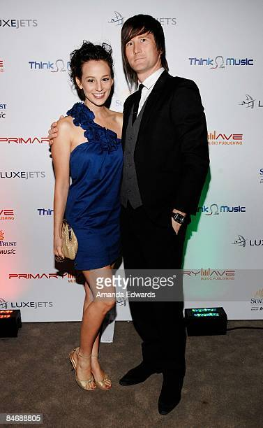 Julia Christian and Stephen Christian attend the Primary Wave Music Publishing preGrammy party at SLS Hotel on February 7 2009 in Los Angeles...