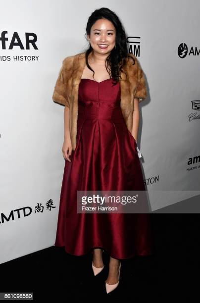 Julia Chu attends the amfAR Gala at Ron Burkle's Green Acres Estate on October 13 2017 in Beverly Hills California