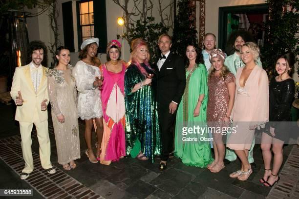 Julia Clancey Miranda Dickson and Jonas Tahlin attend the Circus Magazine Oscars Celebration Hosted By Steve Shaw and Jonas Tahlin CEO Absolut Elyx...