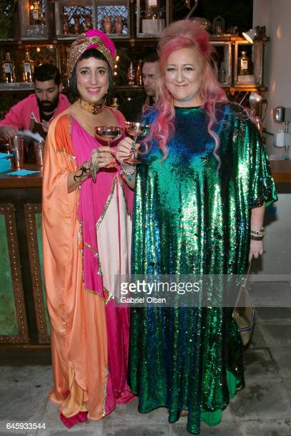 Julia Clancy and Miranda Dickson attend the Circus Magazine Oscars Celebration Hosted By Steve Shaw and Jonas Tahlin CEO Absolut Elyx Sponsored by...