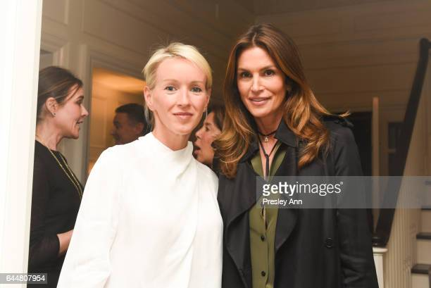 Julia Corden and Cindy Crawford attend Sound Breast Institute Reception Hosted by Embeth Davidtz on February 23 2017 in Los Angeles California