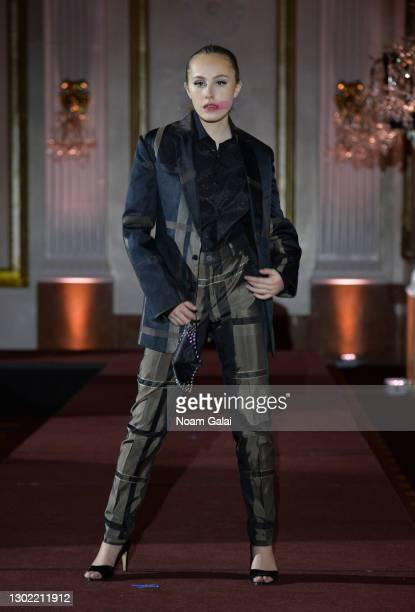 Julia Corso walks the runway for the NYFW hiTechMODA Spotlight on the New Era of Fashion - FIGOS Shoe Designer With Fashion Designer Ricardo Oyarzun:...