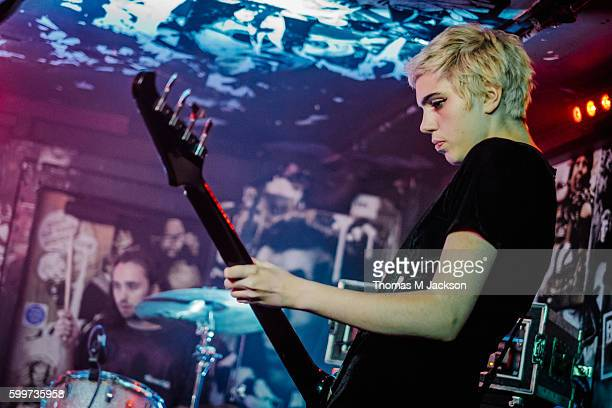 Julia Cumming of Sunflower Bean performs at Think Tank on September 6 2016 in Newcastle upon Tyne England