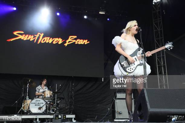 Julia Cumming of Sunflower Bean performs onstage for Day 2 during 2019 Governors Ball Music Festival at Randall's Island on June 1 2019 in New York...