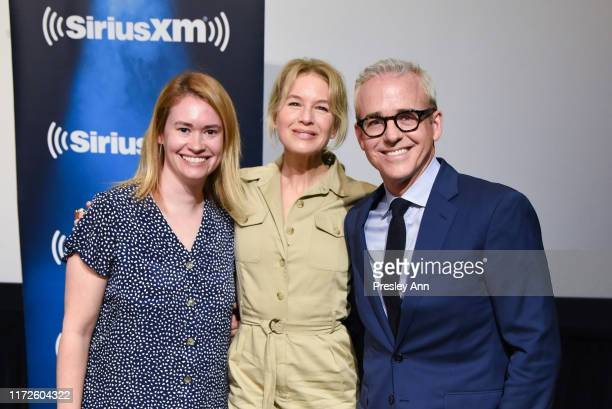 Julia Cunningham, Renee Zellweger and Jess Cagle attend SiriusXM's Town Hall with Renee Zellweger hosted by SiriusXM's Jess Cagle on September 05,...