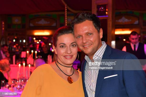 Julia Dahmen and her husband Carlo Fiorito during the Ohlala VIP premiere of Schubeck's Teatro at TeatroSpiegelzelt on November 07 2019 in Munich...