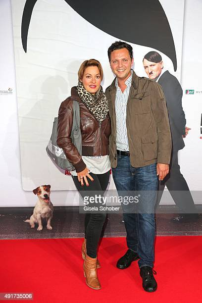 Julia Dahmen and her husband Carlo Fiorito during the special screening of the film 'Er ist wieder da' at Mathaeser Filmpalast on October 7 2015 in...