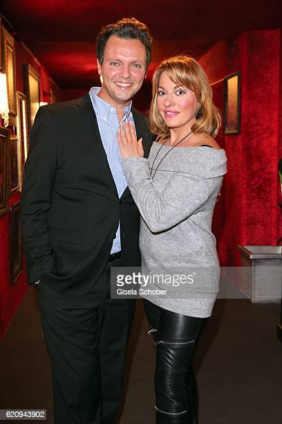Julia Dahmen and her husband Carlo Fiorito during the VIP premiere of Schubeck's Teatro at Spiegelzelt on November 3 2016 in Munich Germany