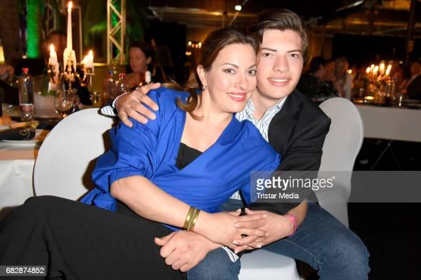 Julia Dahmen and her son Joshua Dahmen attend the 'Goldene Sonne 2017' Award by SonnenklarTV on May 13 2017 in Kalkar Germany