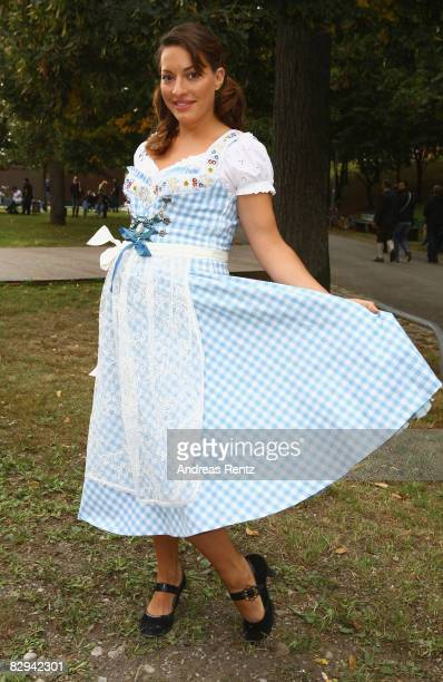 Julia Dahmen attends a party at Hippodrom beer tent during day 2 of Oktoberfest beer festival on September 21 2008 in Munich Germany