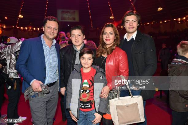 Julia Dahmen with her husband Carlo Florito and their children Mikosch Emilio and Joshua during the Circus Krone Premiere at Circus Krone on December...