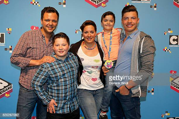 Julia Dahmen with her husband Carlo son Mikosch Emilio and Joshua attends the Family Friends Fun Day by kids TV channels Cartoon Network and...