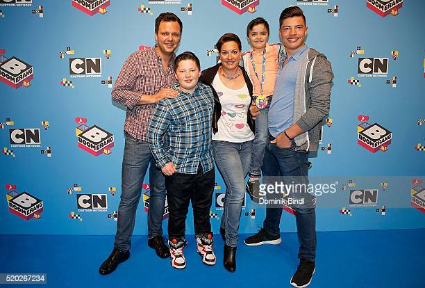 Julia Dahmen with her husband Carlo son Mikosch Emilio and Joshua attend the Family Friends Fun Day by kids TV channels Cartoon Network and Boomerang...