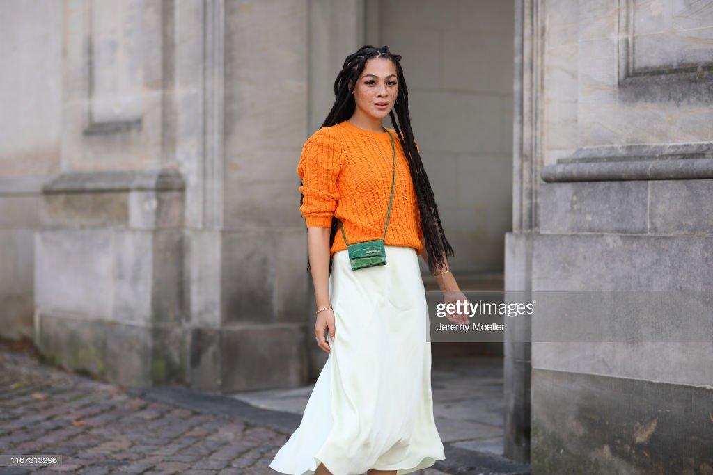 Street Style - Day 3 - Copenhagen Fashion Week Spring/Summer 2020 : Photo d'actualité