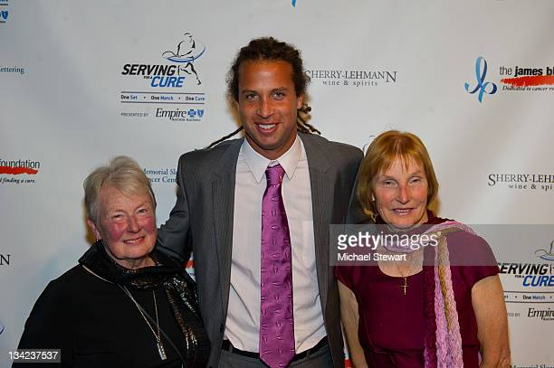 Julia D'Arcy Thomas Blake and Betty Blake attend James Blake's Serving for a Cure Charity event at 30 West 60th 11th Floor on November 28 2011 in New...