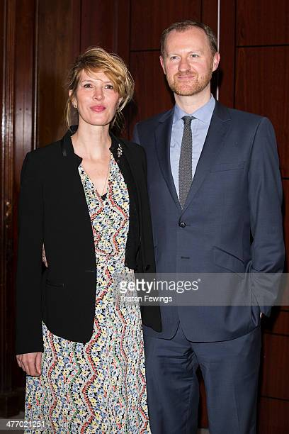 Julia Davis and Mark Gatiss attend as the London Lesbian and Gay switchboard celebrates its 40th birthday at The Waldorf Hilton Hotel on March 6 2014...