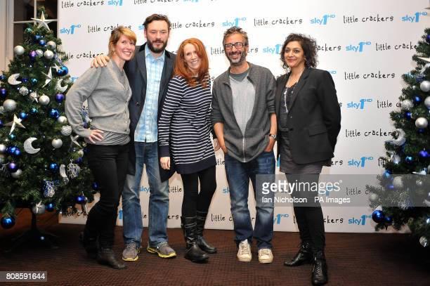 Julia Davis Julian Barrett Catherine Tate David Baddiel and Meera Syal some of the stars of Sky 1's new comedy series Little Crackers attend a...