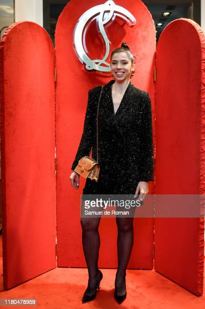 Julia de Castro attends the ELISA bag collection presentation at the Christian Louboutin store on November 6, 2019 in Madrid, Spain.