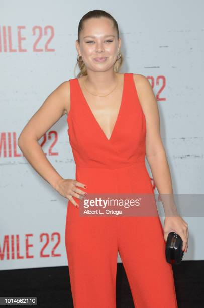 Julia De Mars arrives for the Premiere Of STX Films' 'Mile 22' held at Westwood Village Theatre on August 9 2018 in Westwood California