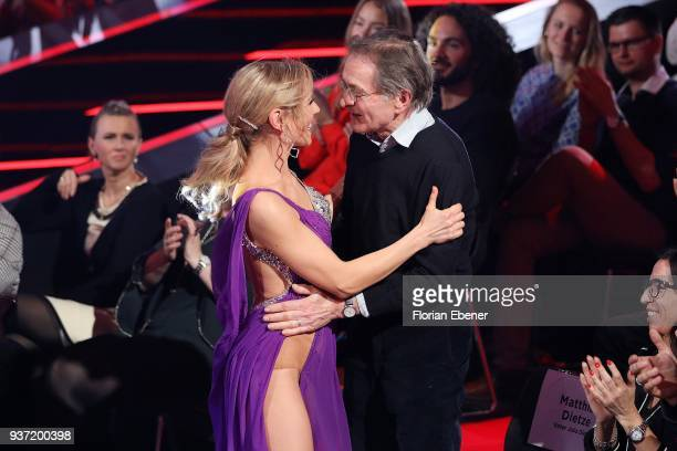 Julia Dietze and her father Mathias Dietze during the 2nd show of the 11th season of the television competition 'Let's Dance' on March 23 2018 in...
