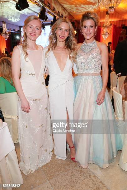 Julia Dietze and her sister Sophie Dietze and Wolke Hegenbarth during the Gala Spa Awards at Brenners ParkHotel Spa on March 25 2017 in BadenBaden...