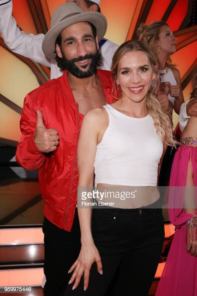 Julia Dietze and Massimo Sinató during the 9th show of the 11th season of the television competition 'Let's Dance' on May 18 2018 in Cologne Germany