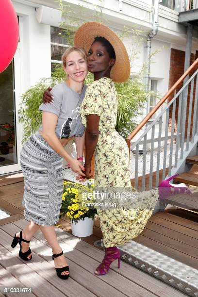 Julia Dietze and Nikeata Thompson attend the Gala Fashion Brunch during the MercedesBenz Fashion Week Berlin Spring/Summer 2018 at Ellington Hotel on...