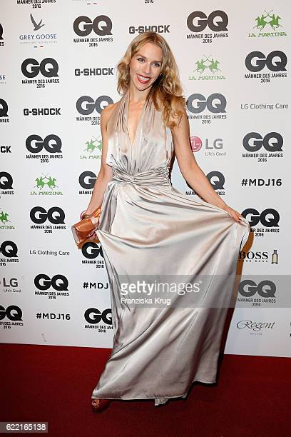 Julia Dietze arrives at the GQ Men of the year Award 2016 at Komische Oper on November 10 2016 in Berlin Germany