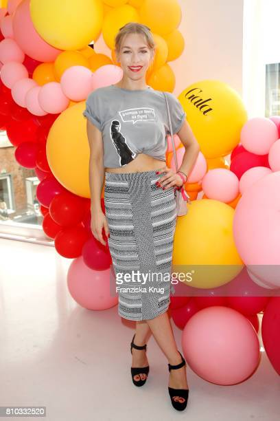 Julia Dietze attends the Gala Fashion Brunch during the MercedesBenz Fashion Week Berlin Spring/Summer 2018 at Ellington Hotel on July 7 2017 in...