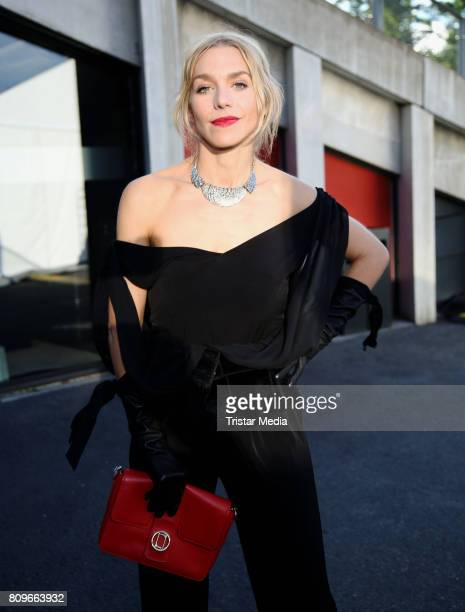 Julia Dietze attends the Guido Maria Kretschmer Fashion Show Autumn/Winter 2017 at Tempodrom on July 5 2017 in Berlin Germany