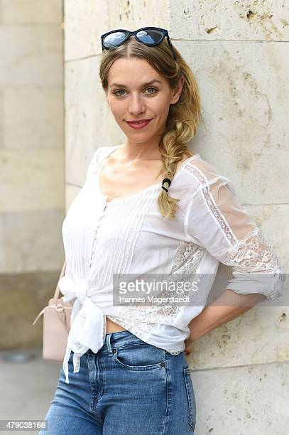 Julia Dietze attends the ZDF reception during the Munich Film Festival at Hugo's on June 30 2015 in Munich Germany