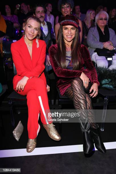 Julia Dietze Christine Neubauer at the Maybelline New York show 'Makeup that makes it in New York' during the Berlin Fashion Week Autumn/Winter 2019...