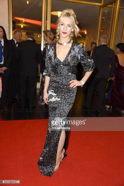 Julia Dietze in a dress of Elisabetta Franchi attends the Leipzig Opera Ball on November 4 2017 in Leipzig Germany