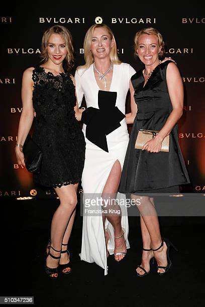 Julia Dietze Lilly zu SaynWittgenstein and Sanny van Heteren attend the Bulgari Night Of The Icons on February 14 2016 in Berlin Germany