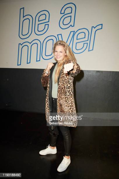 """Julia Dorny attends the Daimler Salon """"Be a Mover"""" on December 10, 2019 in Berlin, Germany."""