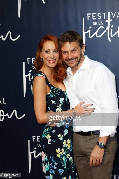 Julia Dorval and Aliotcha Itovitch attend opening ceremony photocall of the 20th Festival of TV Fiction on September 12, 2018 in La Rochelle, France.