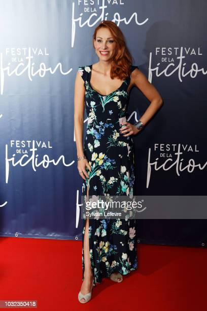 Julia Dorval attends opening ceremony photocall of the 20th Festival of TV Fiction on September 12, 2018 in La Rochelle, France.