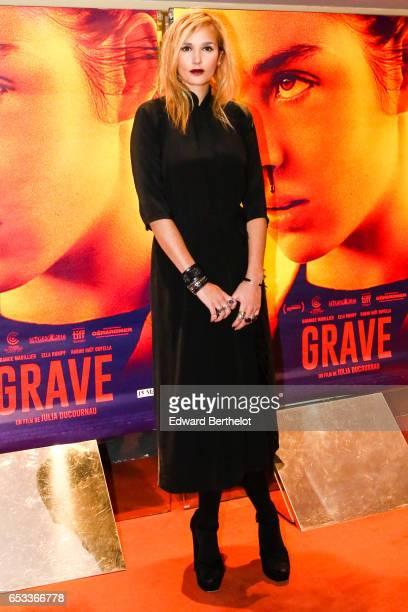 Julia Ducournau attends the Grave Paris Premiere at UGC Cine Cite des Halles on March 14 2017 in Paris France