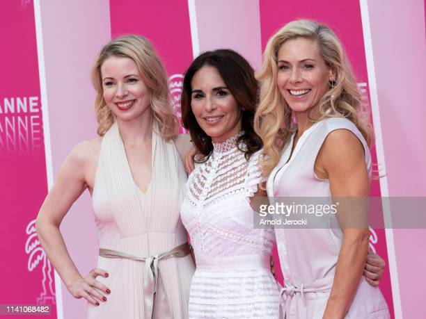 Julia Dufvenius Alexandra Rapaport and Eva Rose attends day three of the 2nd Canneseries International Series Festival on April 07 2019 in Cannes...