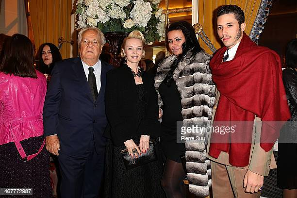 Julia DyanchenkoMassimo GargiaStefan D'Angieri and SAR Princesse Kasia Al Thani attend 'The Children for Peace' Gala at Cercle Interallie on February...