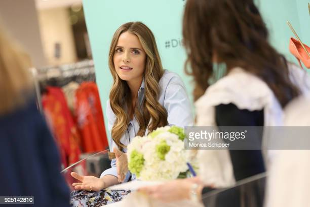 Julia Engel of Gal Meets Glam speaks onstage at Vionic Hosts Spring Style Secrets With Elle And Gal Meets Glam At Lord Taylor Fifth Avenue on...