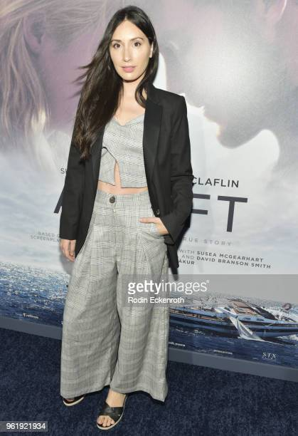 Julia Eringer arrives at the premiere of STX Films' 'Adrift' at Regal LA Live Stadium 14 on May 23 2018 in Los Angeles California