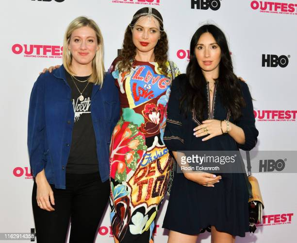 Julia Eringer Rachel Paulson and Kari Alison Hodge attend the Outfest Los Angeles LGBTQ Film Festival Opening Night Gala premiere of Circus Of Books...