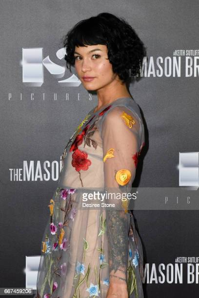 """Julia Fae attends the premiere of """"The Mason Brothers"""" at the Egyptian Theatre on April 11, 2017 in Hollywood, California."""